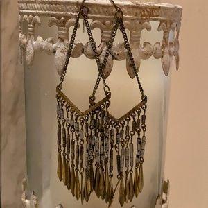Boho metal earrings